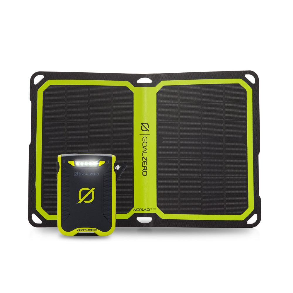 Goal Zero Venture 30 Power Bank + 7 Nomad Plus Solar Kit Gal 5 l Solar Kits l Tiny Life Supply.jpg
