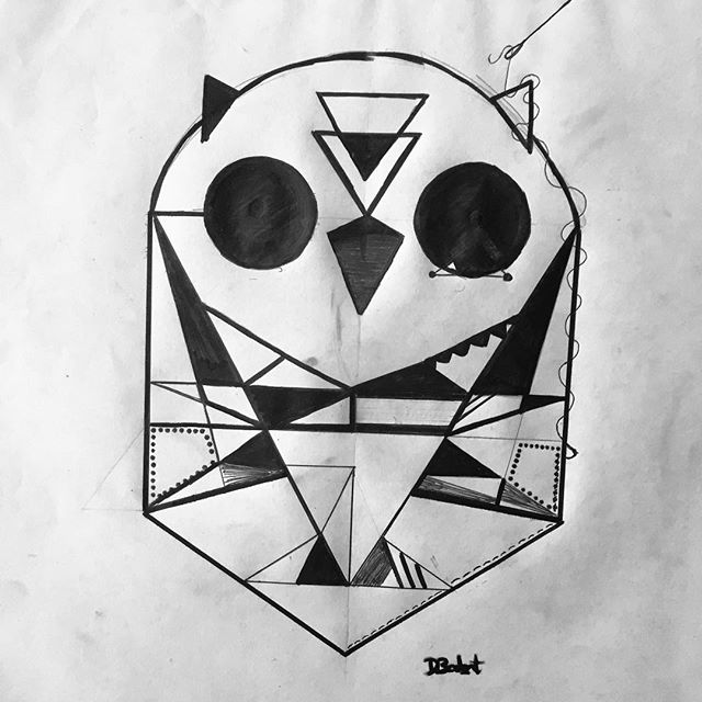 Been a while. #owls #inktober