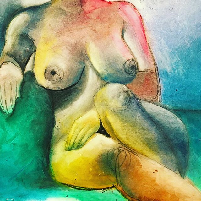 #model #naked #freethenipple #oilpastel #paintstick #substracting #messyhands #lifedrawing #value #colortheory#graphite #art #drawing #body