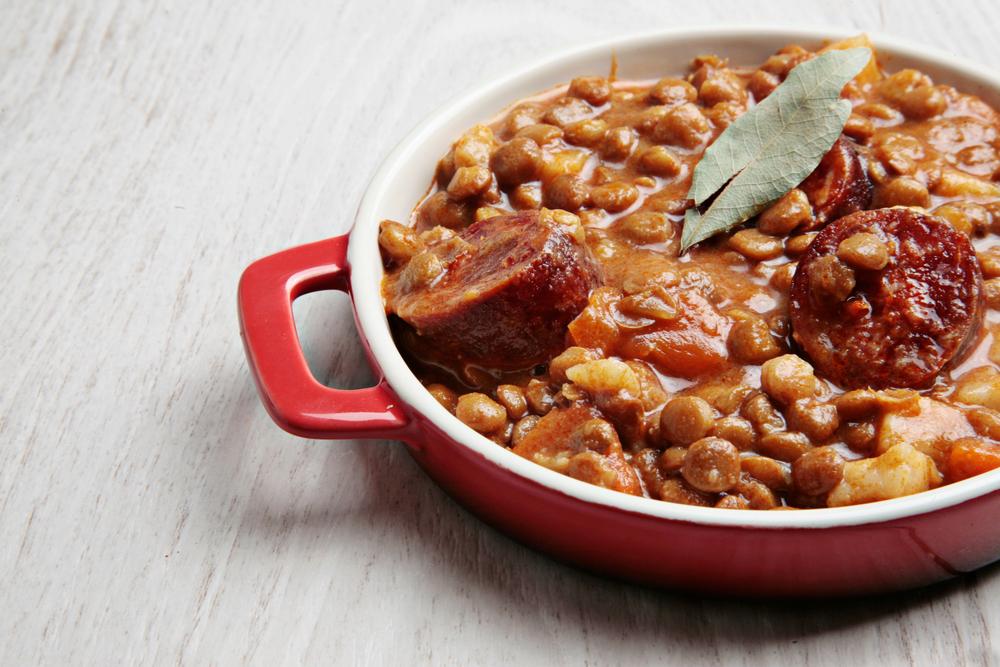 La Cena lentils with sausage