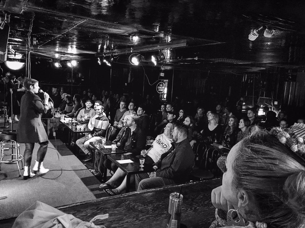 Melanie performing at Candy at The Comedy Store - Photo by Jen Rosenstein