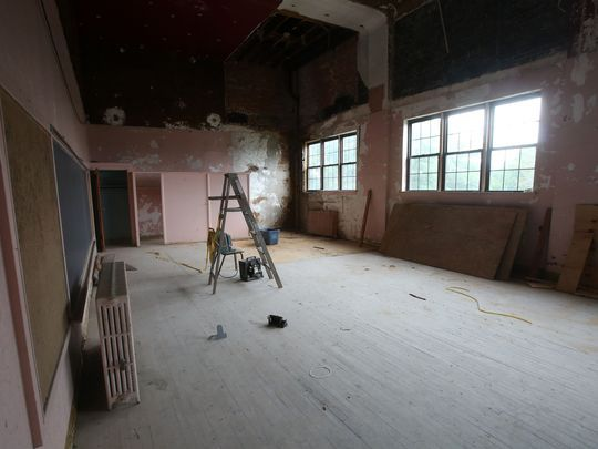 An old classroom in the former Saint Patrick's School in Verplanck Aug. 11, 2017. There are plans to convert the former school into a combination of art gallery space, studios and residencies for artists. (Photo: Frank Becerra Jr./The Journal News)