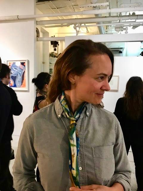 KinoSaito architect Sarah Strauss with her raffle prize