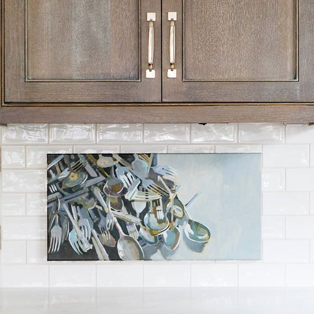 Nobody's kitchen looks like this the day after Thanksgiving! 😂 . . . 12x24 oil on canvas. Please DM for info!  #newwork #studiowork #onlocation #styleshoot  #annapaschalphotography #djfbuilders #1602jarvis #berkshirehathaway #contemporaryart #raleighhometeam #carriehicks #ncartist #raleighartist #oilpainting #oiloncanvas  #murphyayalapaintings #murphyayalafineart