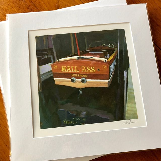 Hauling Ass through the last hours of 2018! Just got in a fresh batch of these prints...still one of my favorite paintings from Hall's Boathouse in Lake Rabun, Georgia.⠀⠀⠀⠀⠀⠀⠀⠀⠀ .⠀⠀⠀⠀⠀⠀⠀⠀⠀ Hall Ass, matted and signed, 16x16, $95. Printed from the original painting on archival 100% cotton fine art paper with a smooth matte finish. Ships beautifully! ⠀⠀⠀⠀⠀⠀⠀⠀⠀ .⠀⠀⠀⠀⠀⠀⠀⠀⠀ .⠀⠀⠀⠀⠀⠀⠀⠀⠀ #smallrun #artprints #ncartist #hallass #hallsboathouse #rabun #lakerabun #lakerabungeorgia #rabuncounty #lakemont #lakeburton #skinautique #woodenboat #woodyboater #lakelife #chriscraft #oilpainting #contemporaryart #raleighartist #raleighnc #anchorlightraleigh #murphyayalapaintings #murphyayalafineart