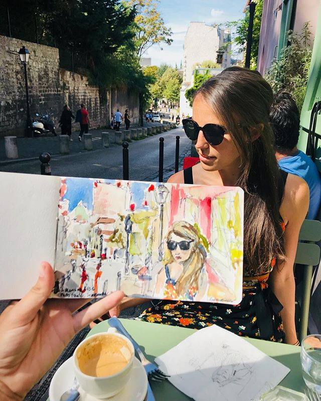 Les arts in Monmarte 🎨. . . . 🖌:@rebekahmackay #someta #monmarte #paris #france #artistsoninstagram