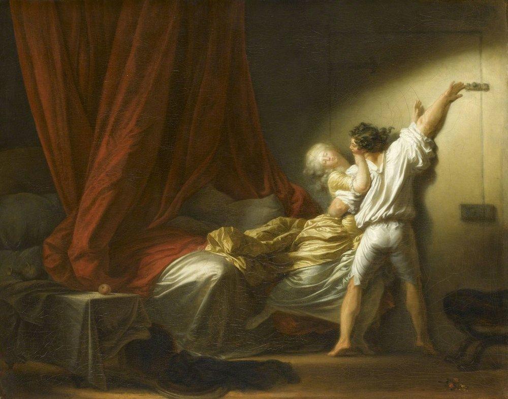 Jean-Honoré Fragonard,The Bolt ,  1777-1778