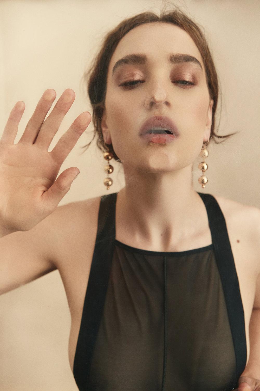Featured:  Young Frankk: Bauble Earrings  La Fille d'O: Noir Body Suit
