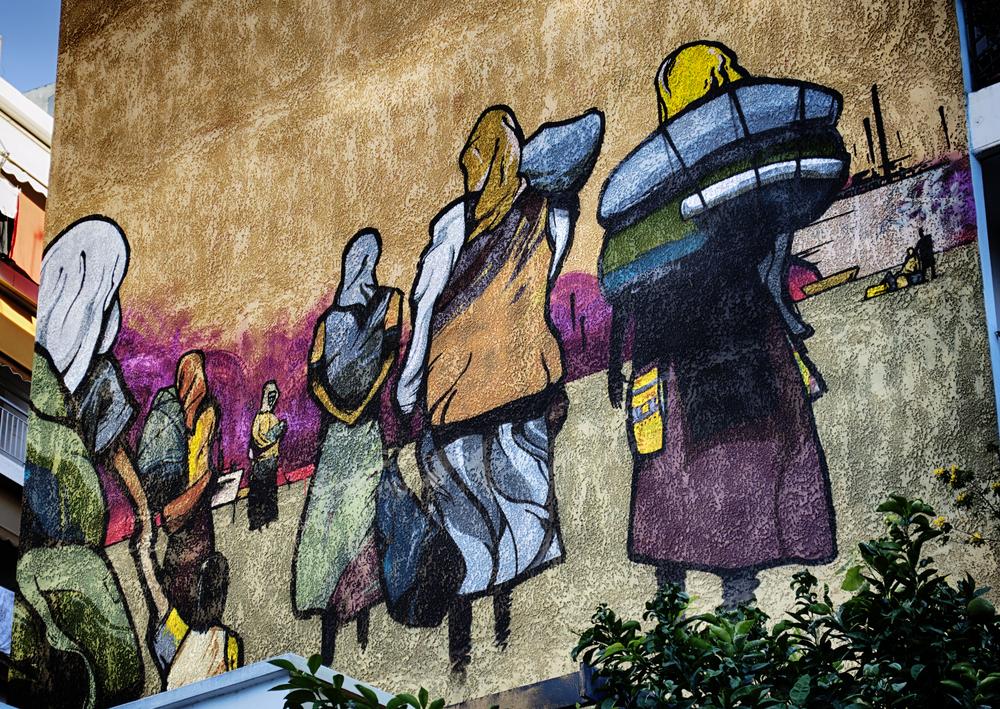 "VangelisB. ""Refugee Street Art."" Vyronas, Athens. 10/20/2013.  Flickr."