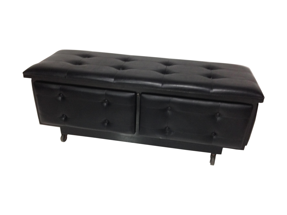 Lane Furniture Black Vinyl Blanket Chest