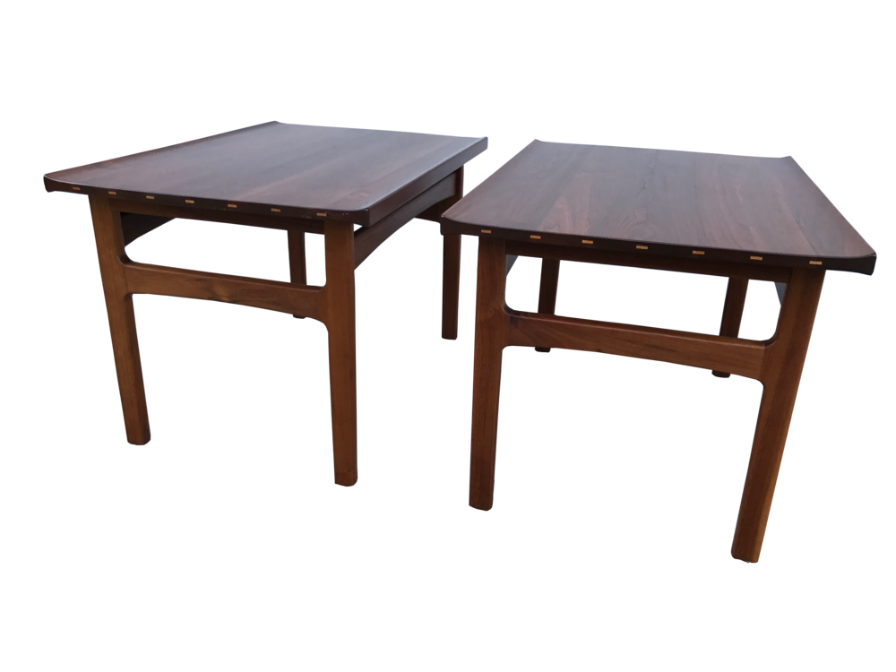 Pr. Dux Danish Modern Walnut Side Tables