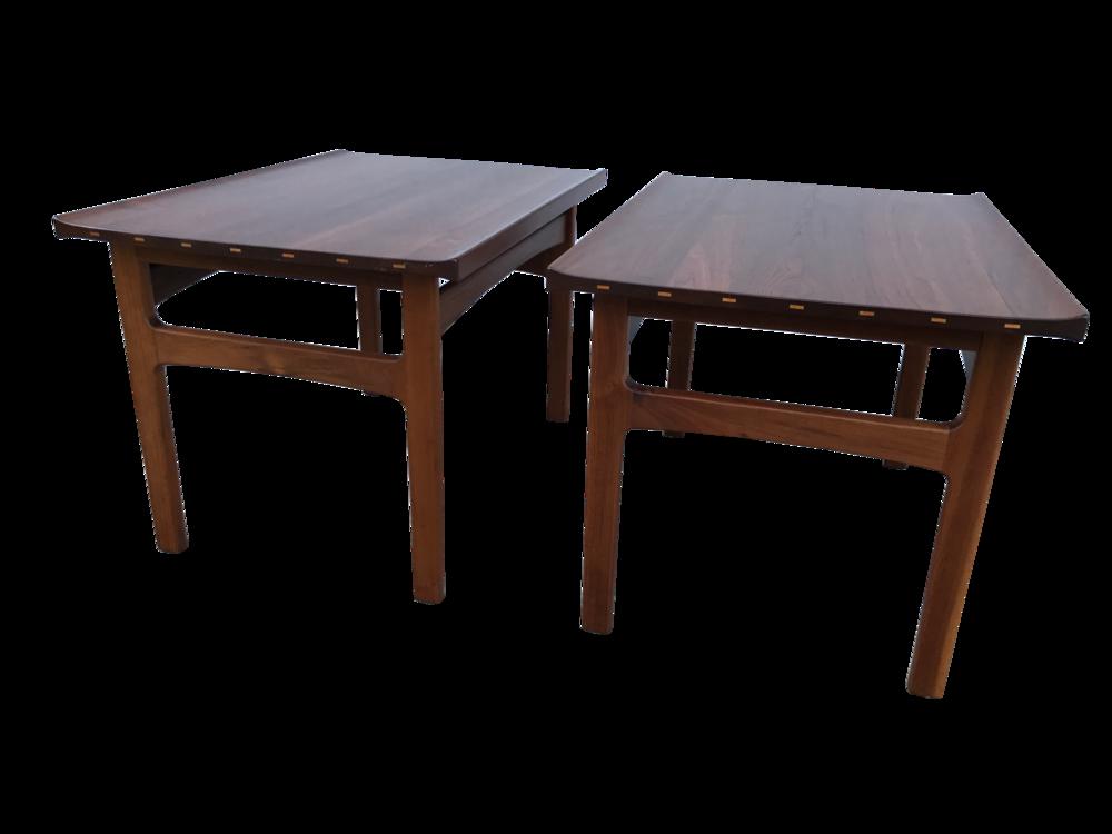 Pr. Dux Danish Modern Teak Side Tables