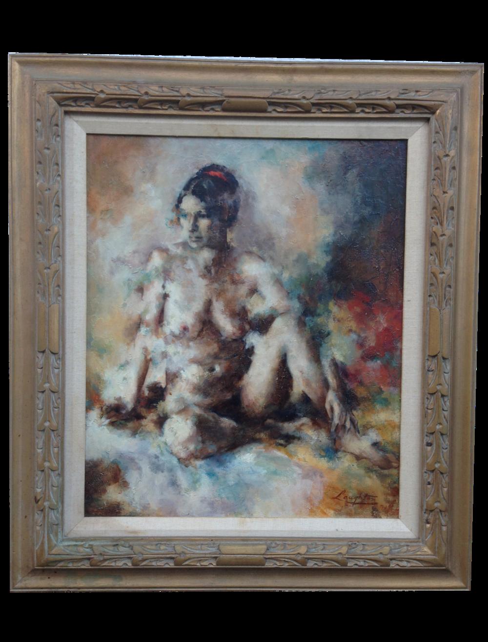 Impressionist Nude Oil Canvas Painting