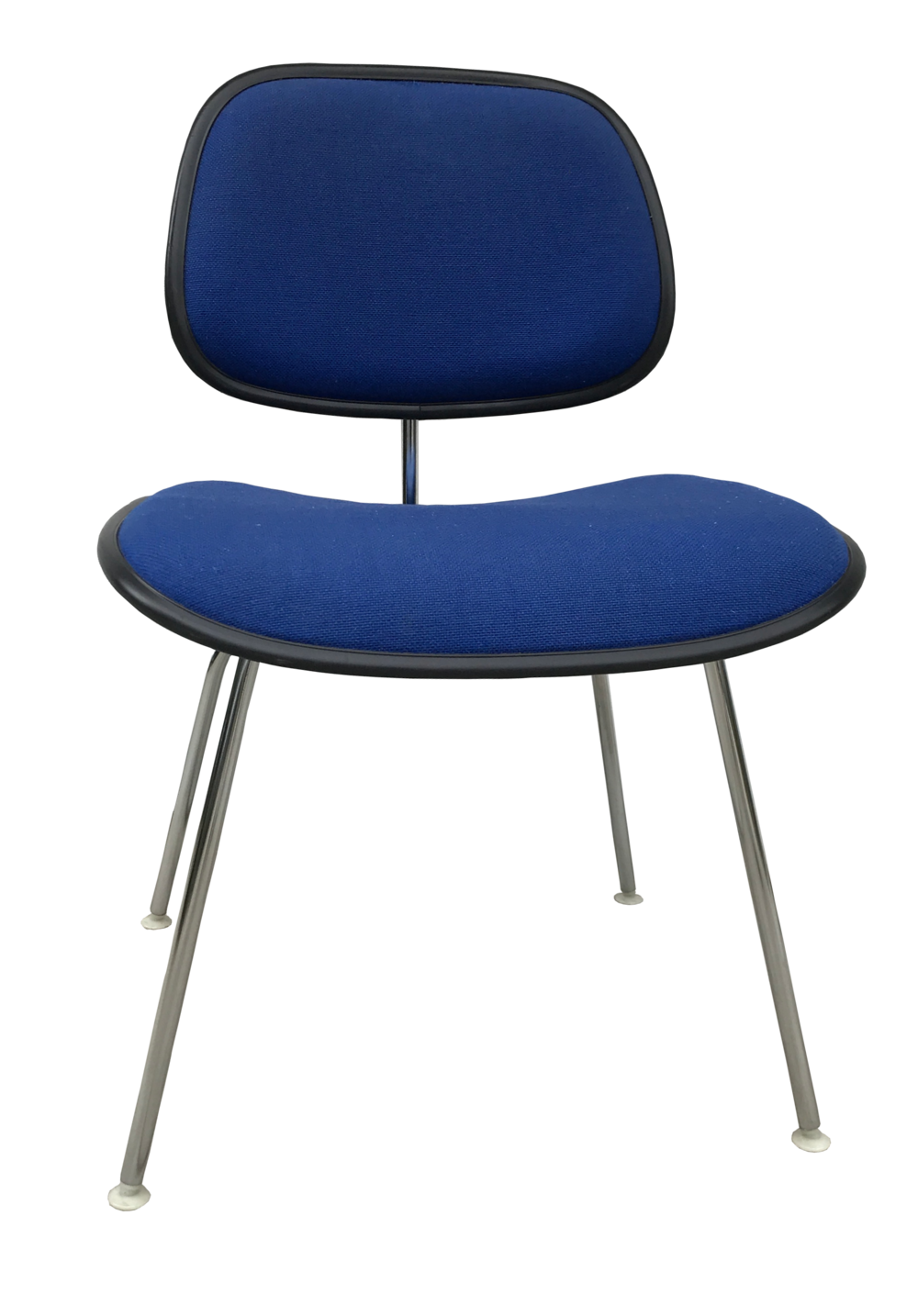 Blue Tweed Eames DCM Chair