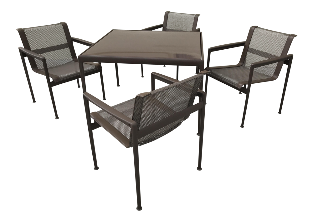 Richard Schultz 1966 Aluminum Dining Table With Chairs