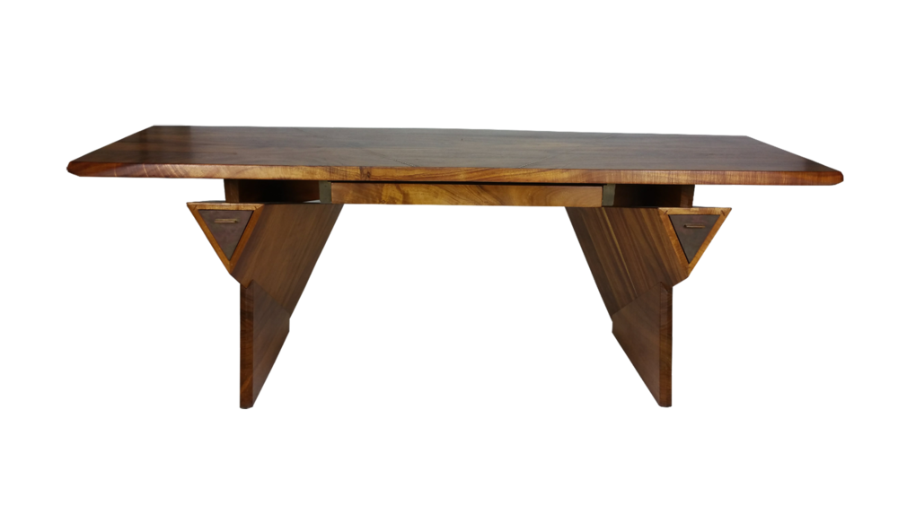 Bruce McQuilkin Koa Wood Craftsman Desk