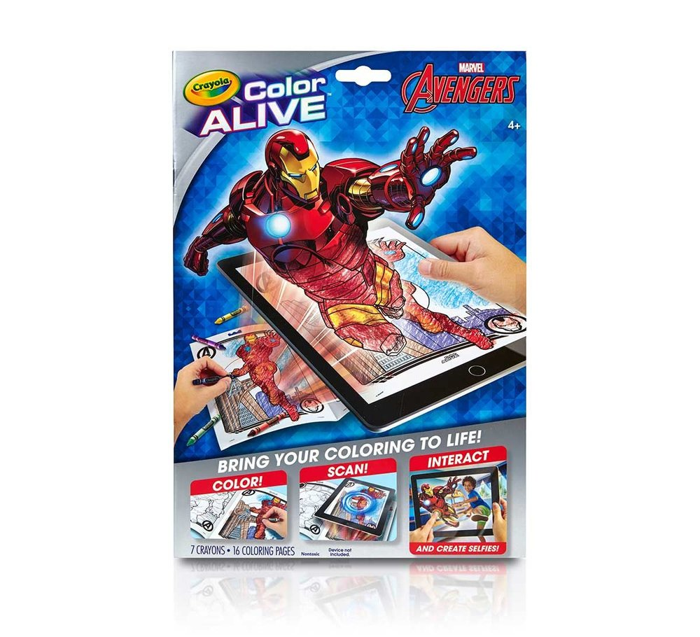 Crayola Color Alive Avengers - Augmented reality coloring book ...
