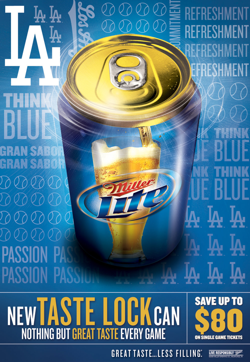 Miller Lite sponsorship in-store and bar signage