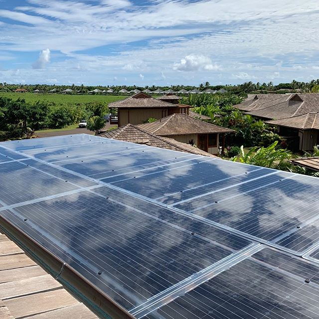 Check out our new installation! A Lumos Solar panels trellis addition to a home in Koloa, Hawaii. #solarenergy