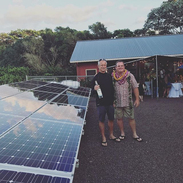 Congrats to my good friend Grant Wells on the opening of @hanalei_spirits_distillery! We installed #solar to help power his distillery. Be sure to try these locally made spirits if you are of age!