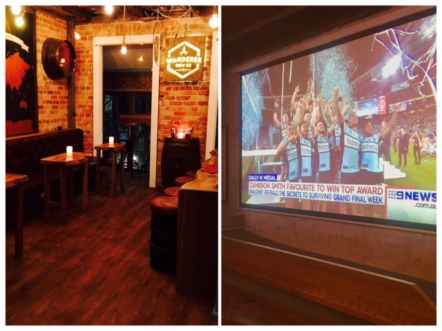 Watch the big game on our 120 inch screen.... - Comfy booths, private bar, full audio...stop it.