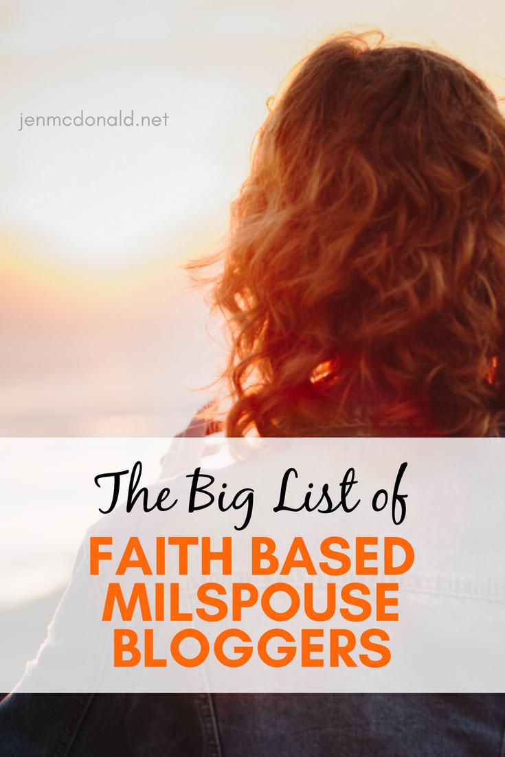 Faith based military spouse bloggers!