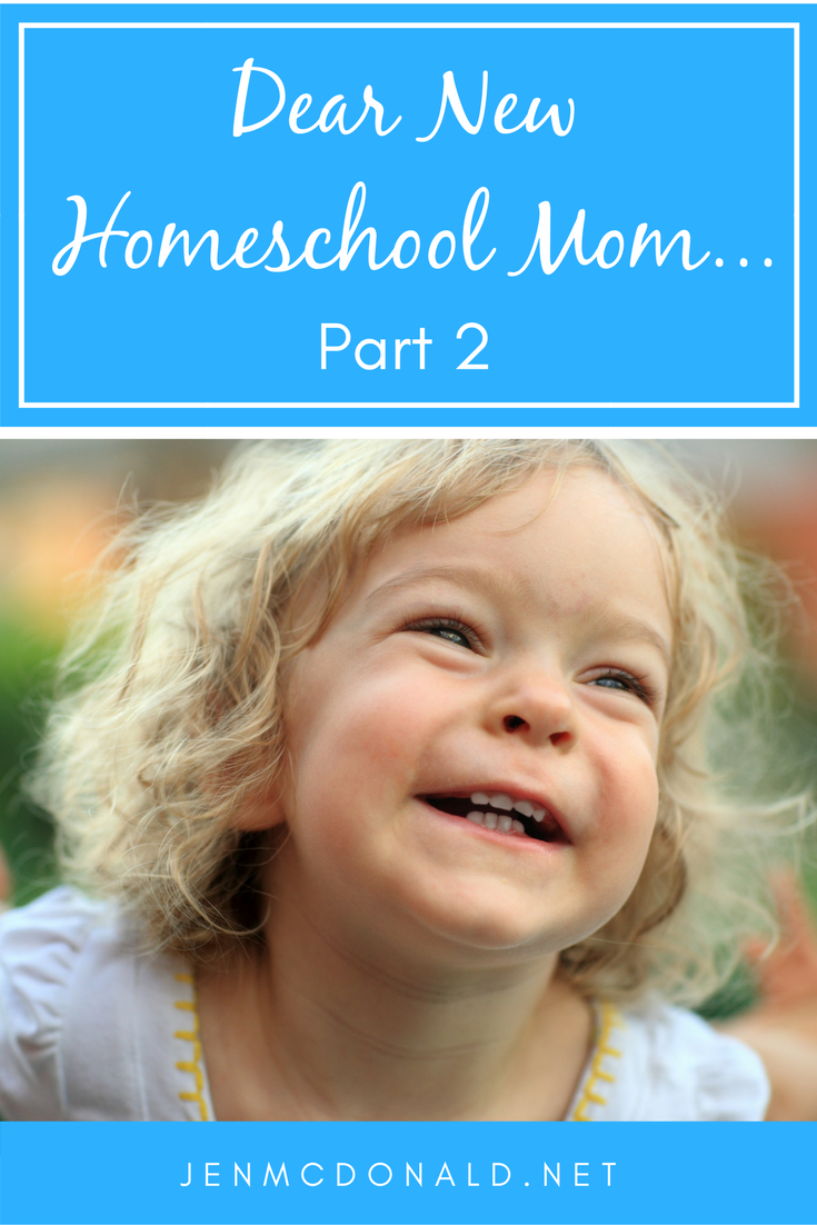 Dear New Homeschool Parent Part two