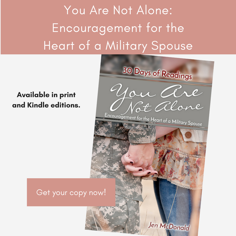Get my book! - Wondering how you'll make it through all that military life throws at you? Weary of deployments and moves or just need a little