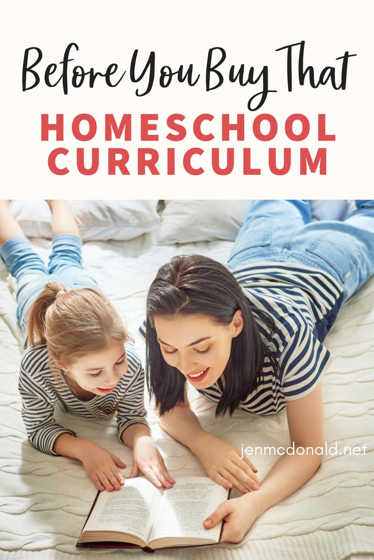 Before You Buy That Homeschool Curriculum