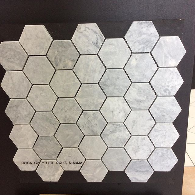 New China grey marble hex 48x48 $154m2