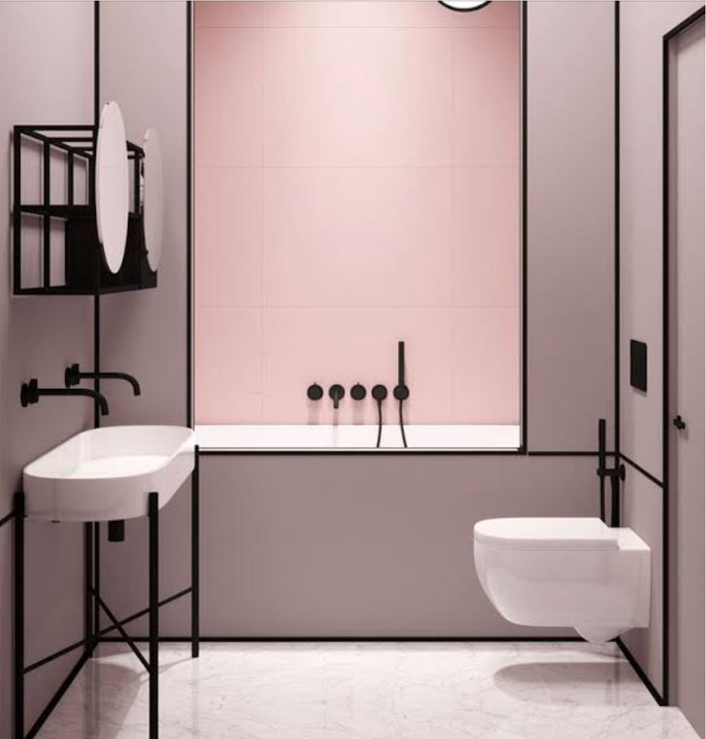 pink and blush - This inspiring bathroom makes pink sing!