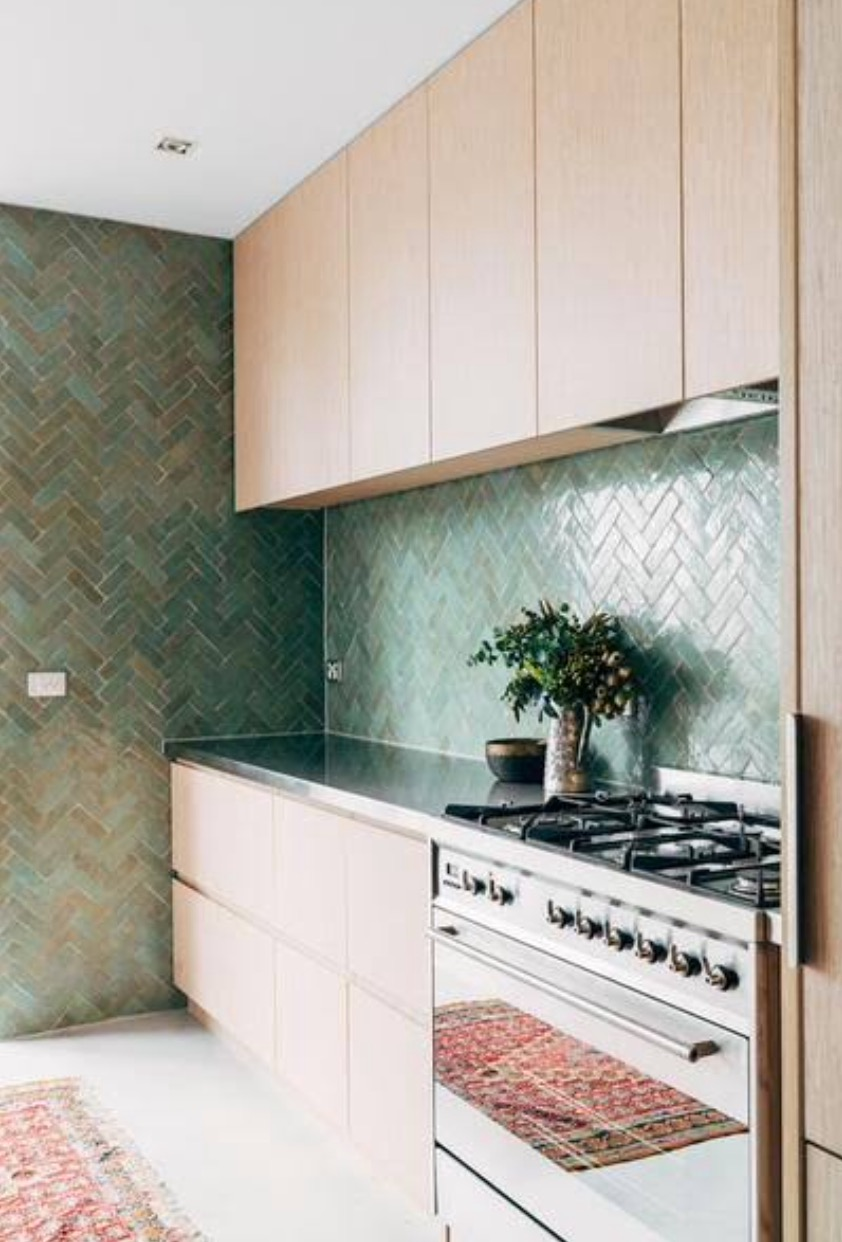 inspired by nature - Plants are all the rage in interiors at the moment, bring the outdoors indoors with these green splash back tiles
