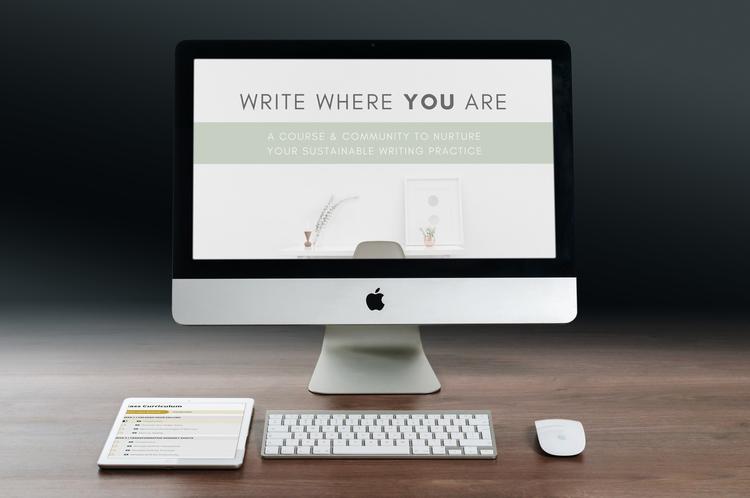 write where you are