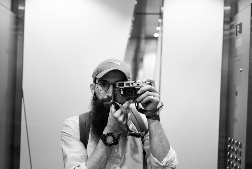 Mandatory lift selfie |Toronto, Canada |  Leica M8  | 40mm | F2, 1/50, ISO320