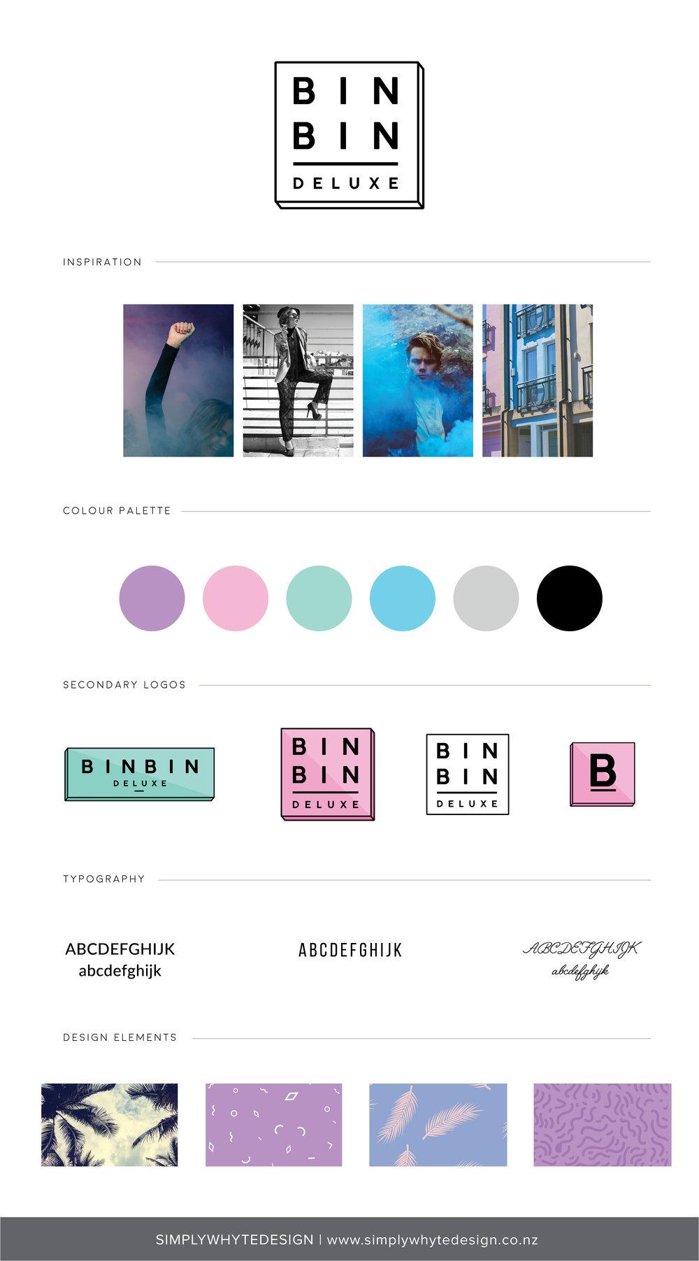 Bin Bin Deluxe - Simply Whyte Design | Auckland Brand Web Design