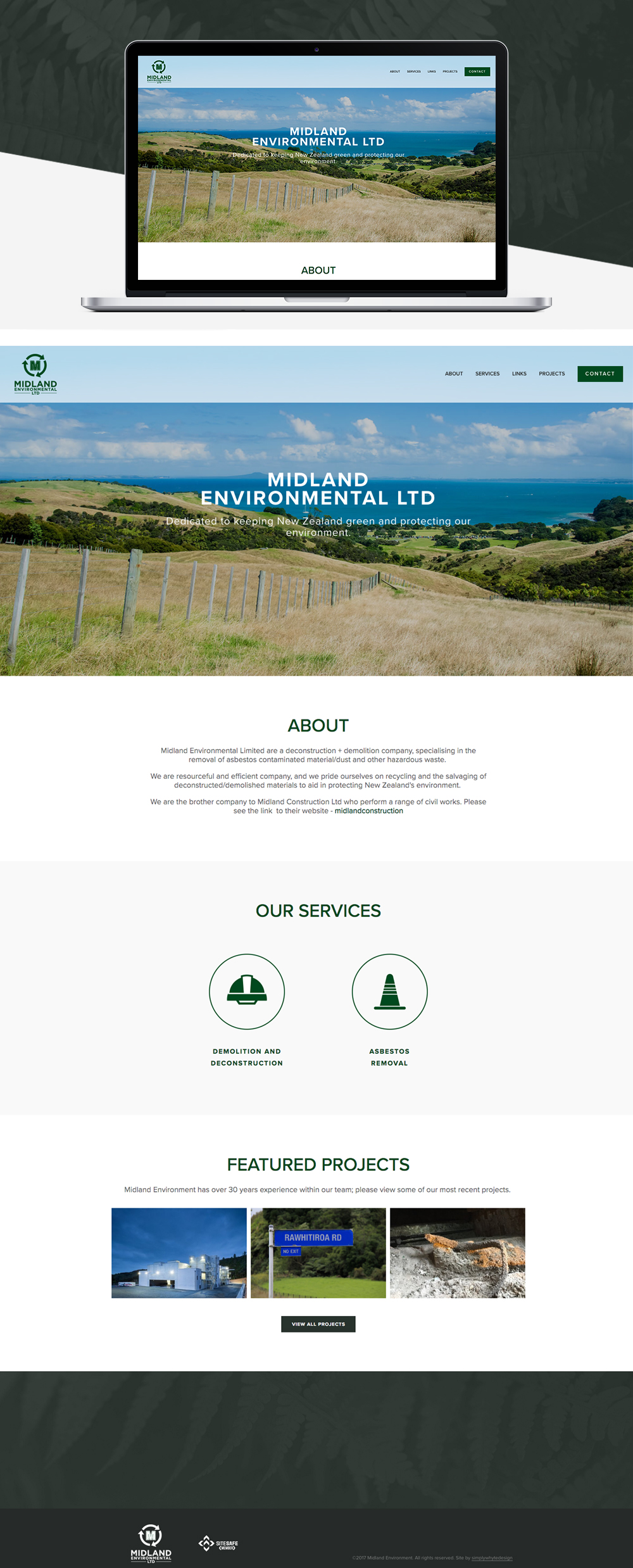 Midland Environmental - Simply Whyte Design | Auckland Brand Web Design
