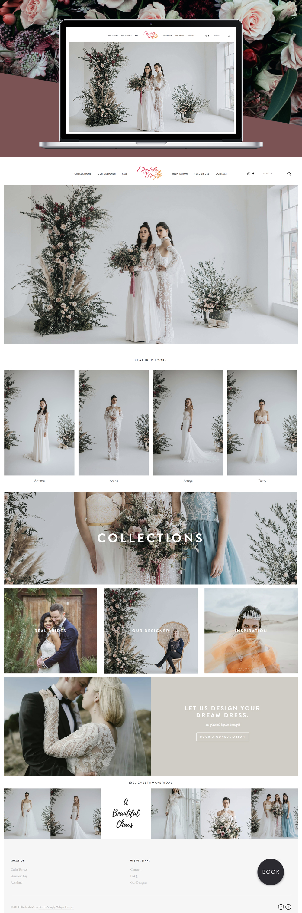 Elizabeth May Bridal Squarespace web design by Simply Whyte Design