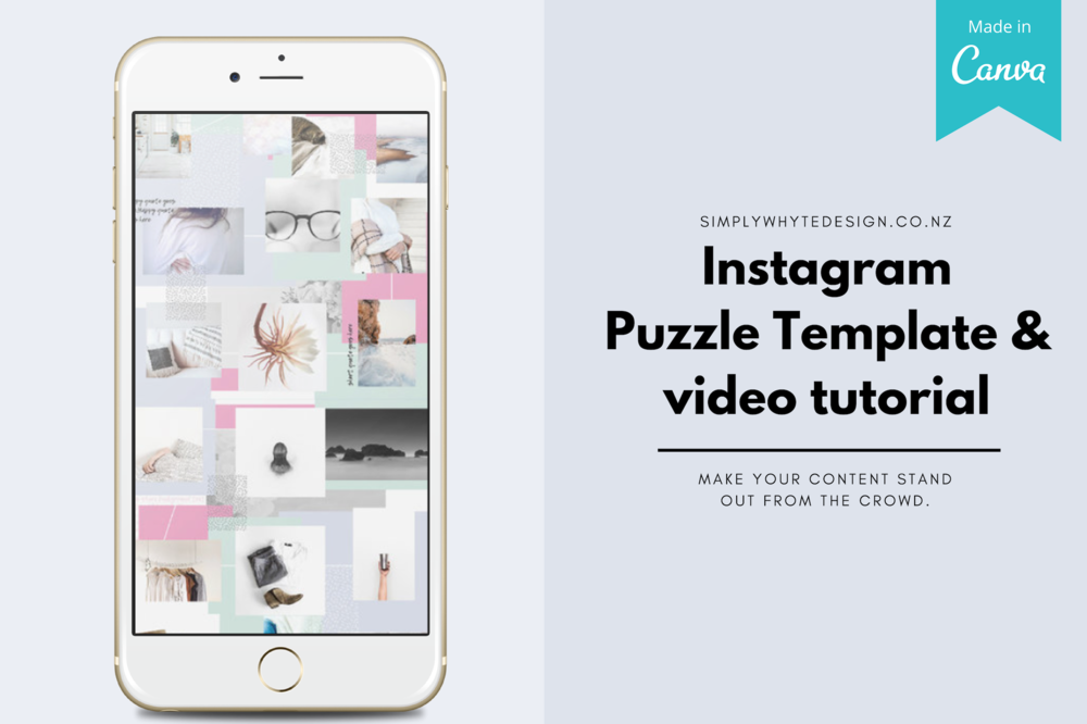 How To Create A Instagram Puzzle Feed Without Photoshop Template