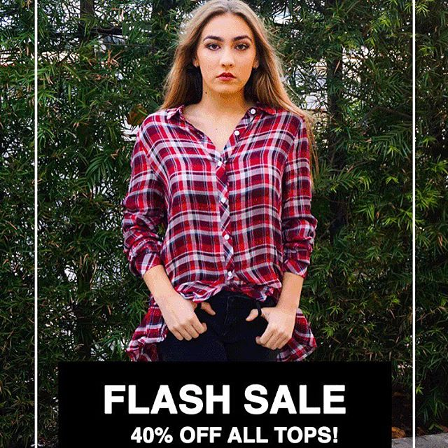 Final Hours to shop our #flashsale and get 40% OFF all tops!! Don't miss out, #linkinbio