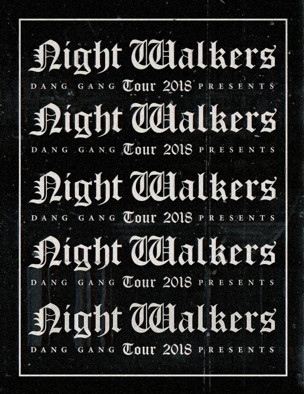 night walkers spring tour 2018 -