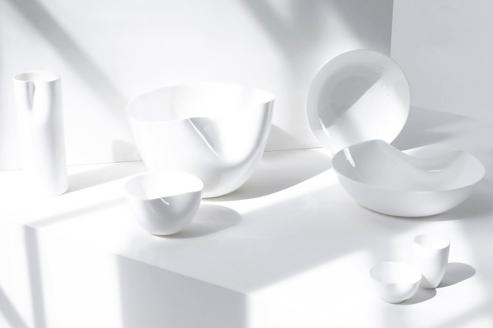 white sculptural