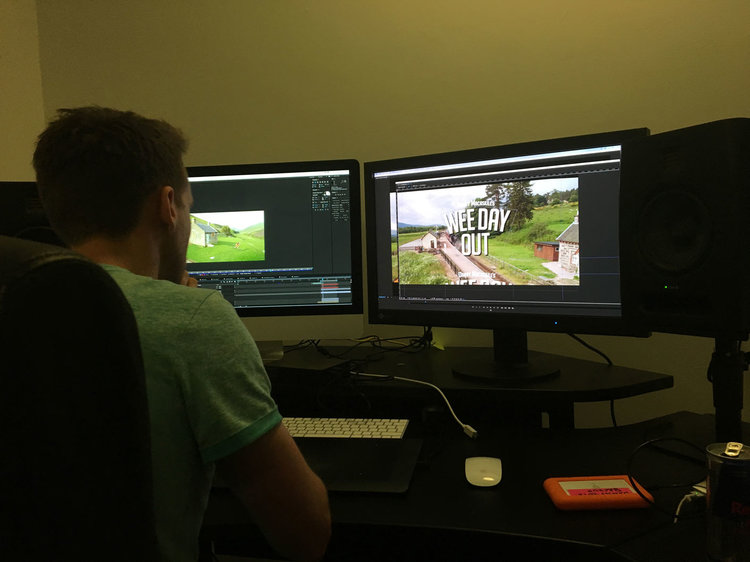 The man in this photo put some serious hours in the last few weeks… Meet Gav, our resident post production wizard.