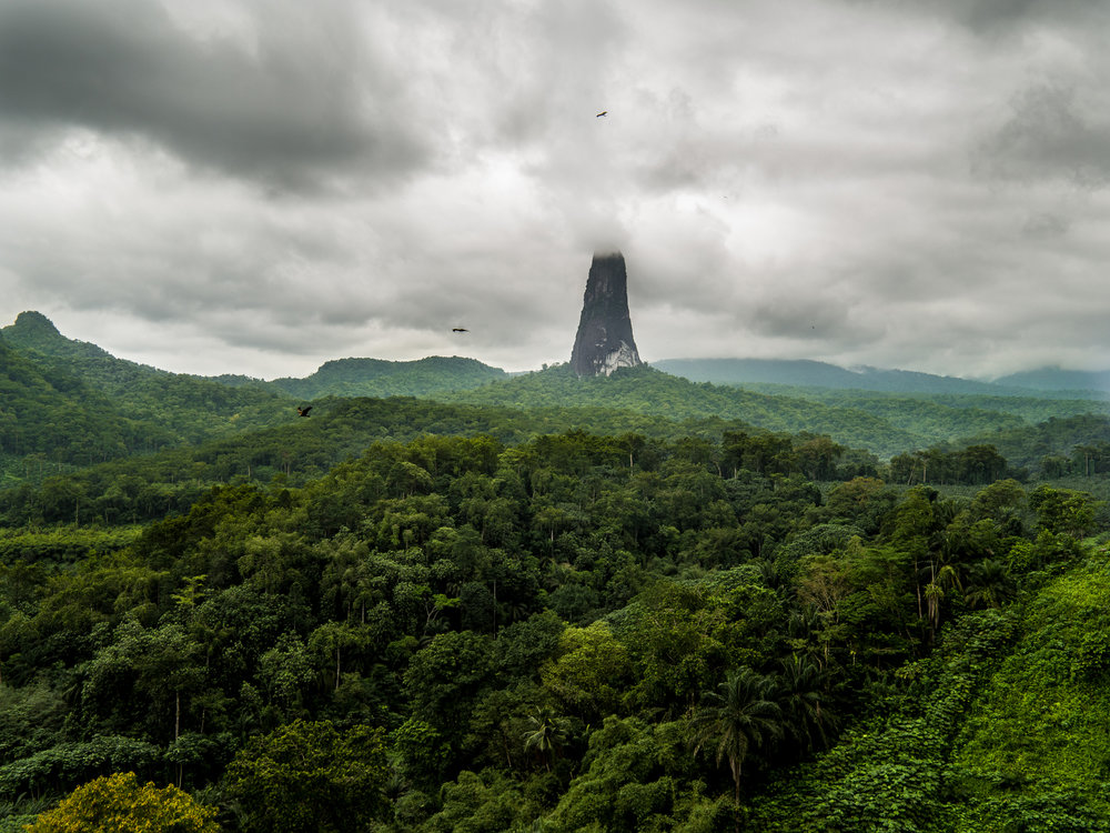 The incredible Pico Cao Grande in Sao Tome