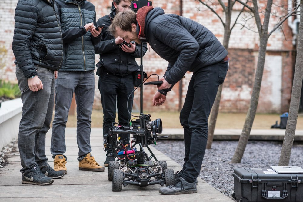 'This Freefly Tero would be more fun if it didn't have the camera attached...' Working closer to home in Glasgow on a digital marketing campaign for T. Rowe Price.