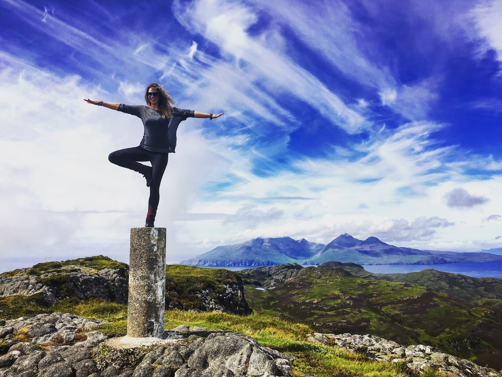 Lisa's happy place - Yoga in the Mountains