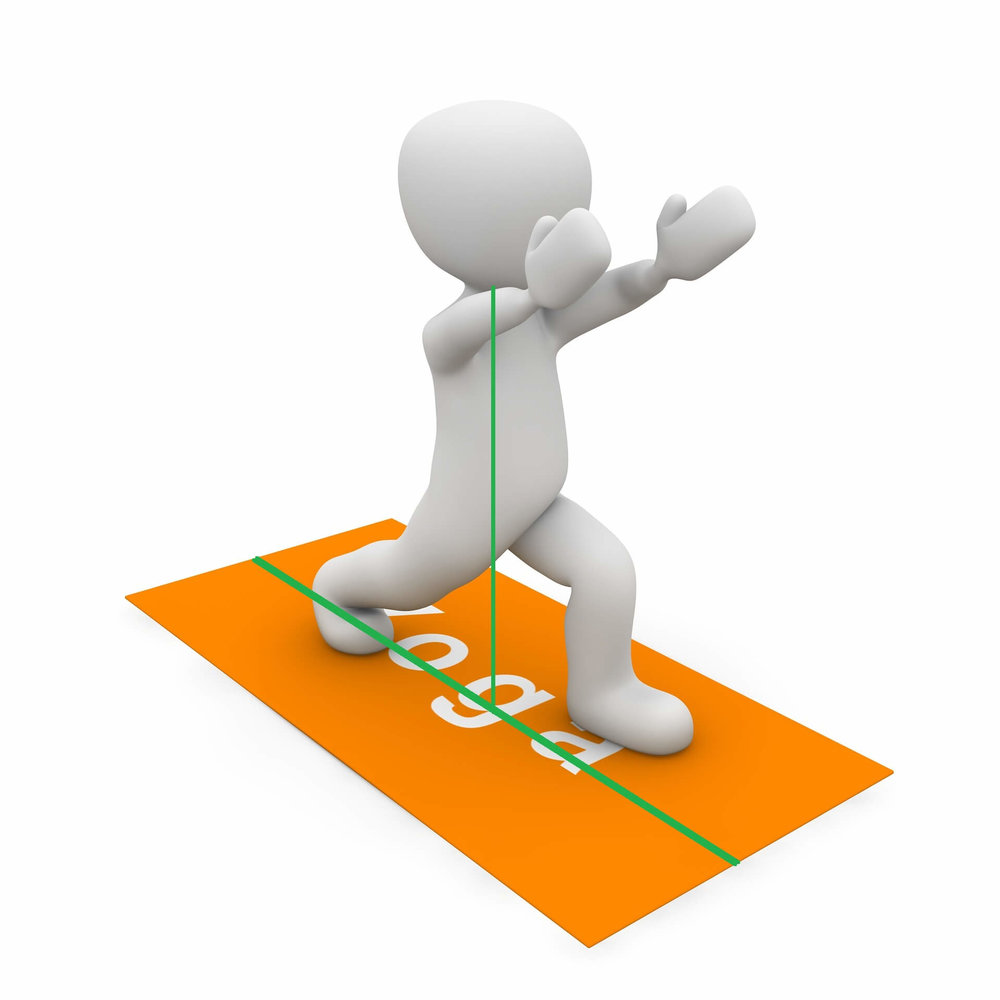 Selbst bei einfachsten Übungen gilt: Ist Deine Körperhaltung schlecht, drohen Verletzungen!