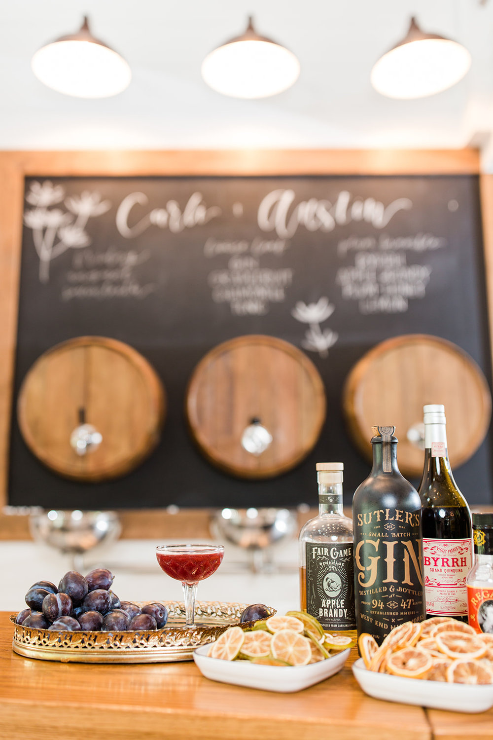 Cordial and Craft with Bar Chalkboard Customization