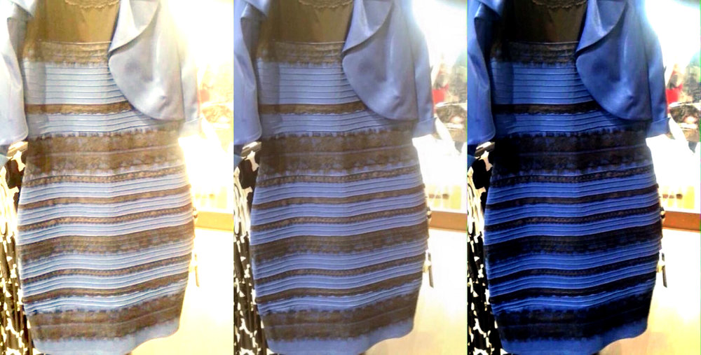 Source  Wired.com  The Science of why no one agrees on the color of this dress. Worth the read.