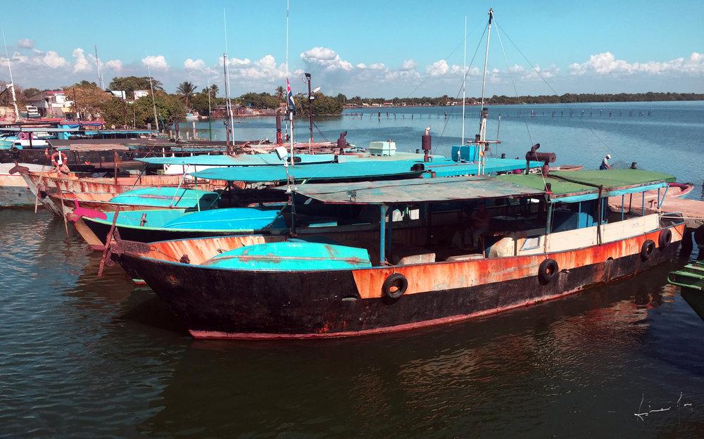 Boats in Water. Cuba. Asher Jay