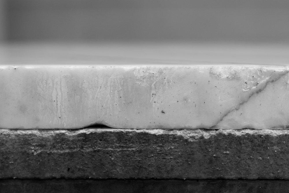 6cm thick,slab of raw Statuario